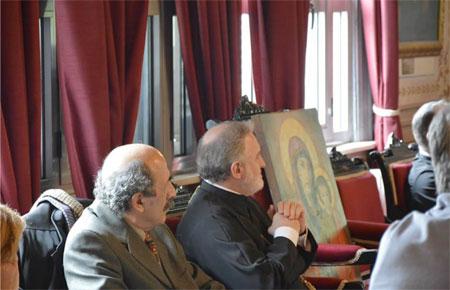 Ο Σεβασμιότατος Μητροπολίτης Προύσσης και Ηγούμενος της Ι.Μ Αγίας Τριάδος Χάλκης κ.κ. Ελπιδοφόρος με τον Συντονιστή Εκπαίδευσης Κωνσταντινούπολης κ. Σταύρο Γιωλτζόγλου.