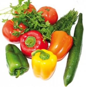 Λαχανικά, πιπεριές, αγγούρια, τομάτες