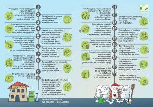 Ενημερωτικό φυλλάδιο για την καθαριότητα στην Αγία Παρασκευή