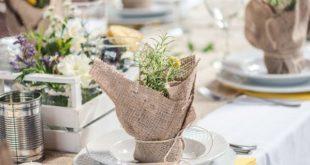 δεξίωση γάμου με αρωματικά και λινάτσα